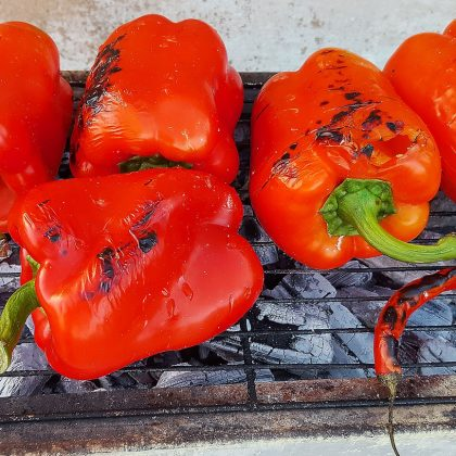 Болгарский перец на огне
